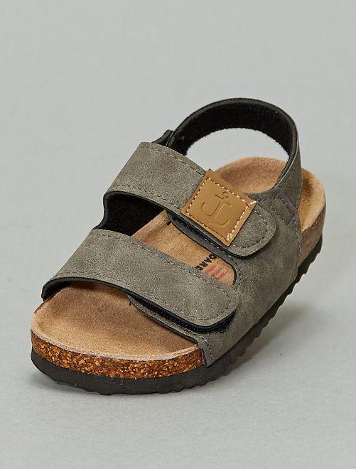 Sandali aperti chiusura a strappo                             BEIGE