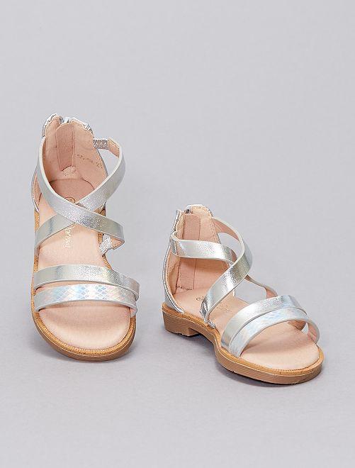 Sandali argentati                             argento