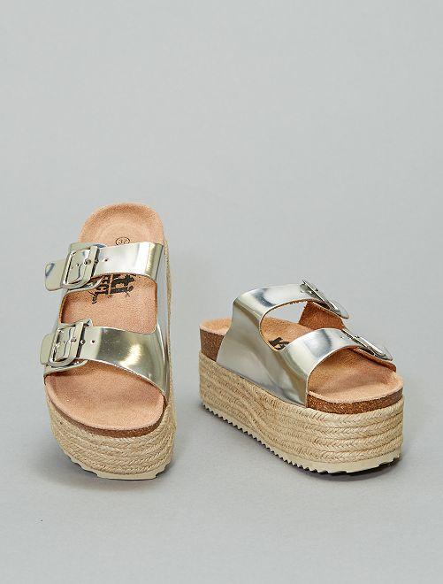 Sandali argentati 'Xti'                             argento