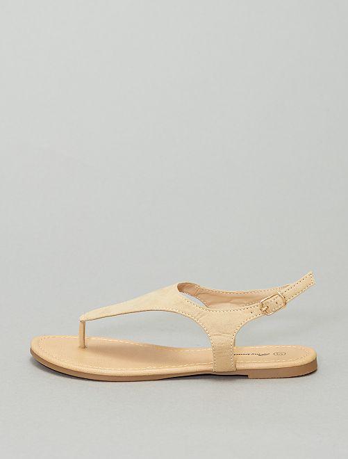 Sandali bassi con fibbia                             BEIGE