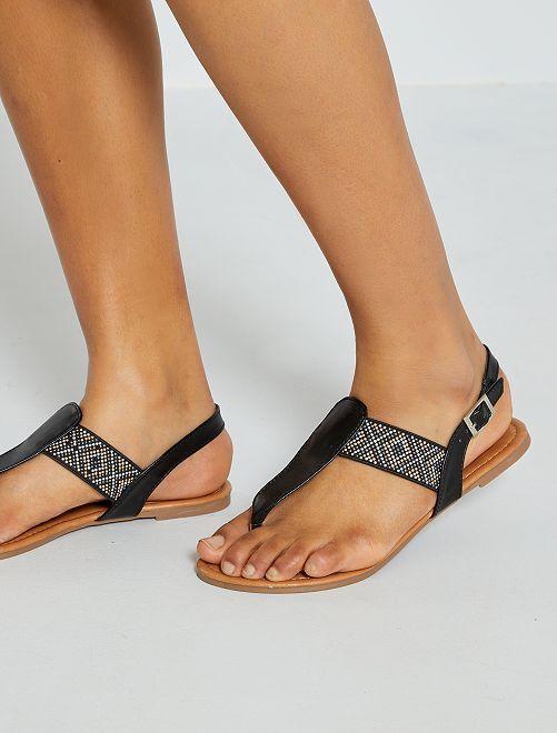 Sandali bassi con fibbia                                         nero