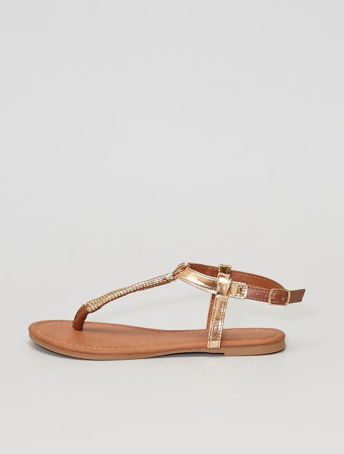Sandali bassi ramati                             bronzo