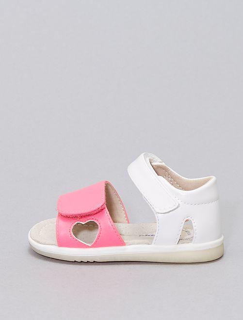 Sandali bicolori 'Beppi'                             ROSA