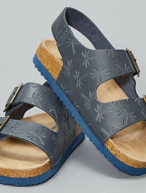 Sandali brillanti effetto ghepardo                     blu navy