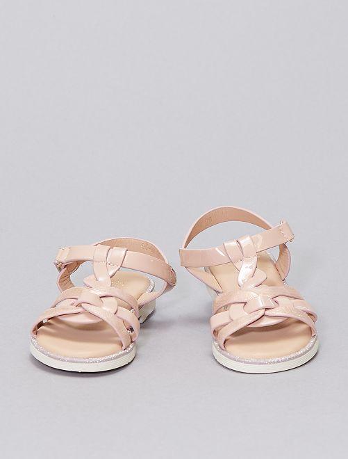 Sandali con cinturini incrociati                             ROSA