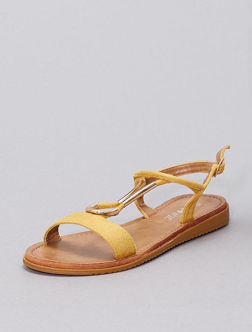 Sandali con gioielli                                             giallo