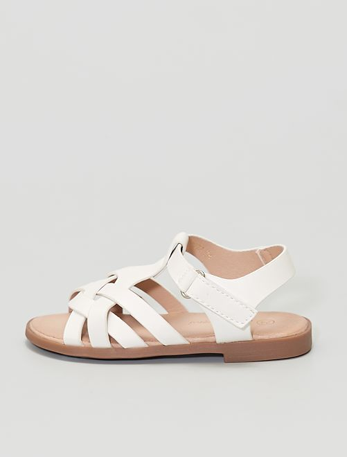 Sandali con strappi                                         bianco