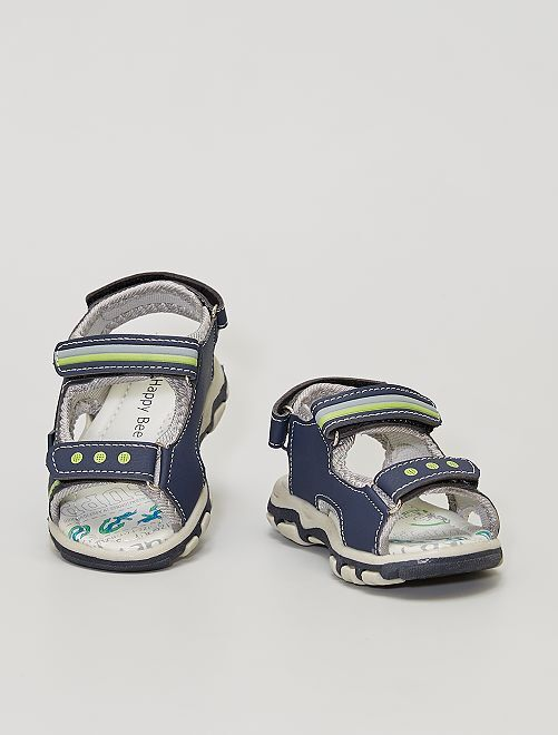 Sandali con strappi                             blu navy