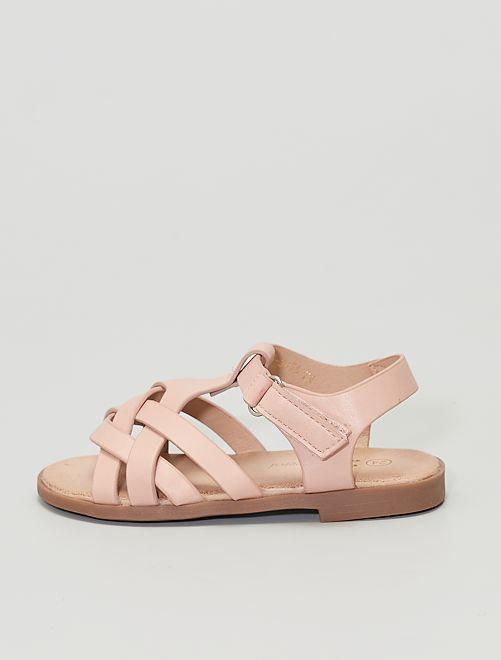 Sandali con strappi                                         ROSA