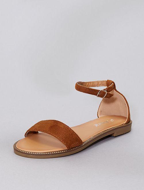 Sandali con strass                                                                             cammello