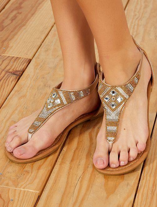 Sandali con strass                             dorato Ragazza