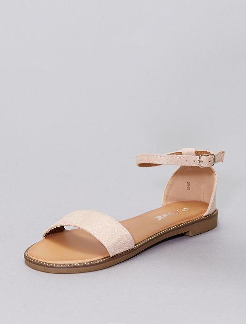 Sandali con strass                                                                             rosa