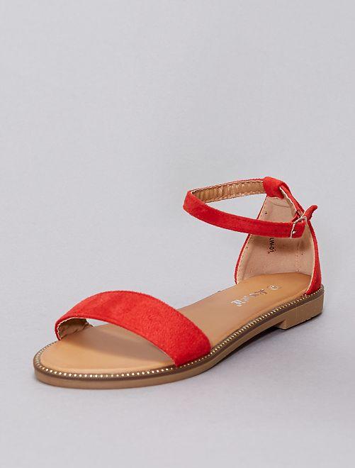Sandali con strass                                                                             rosso