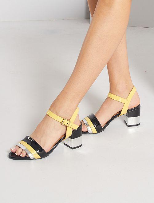 Sandali con tacco                             giallo