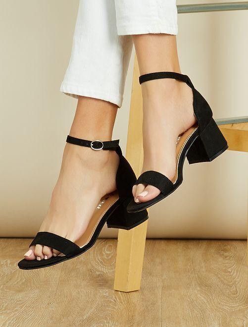 Sandali con tacco quadrato                                 nero Scarpe
