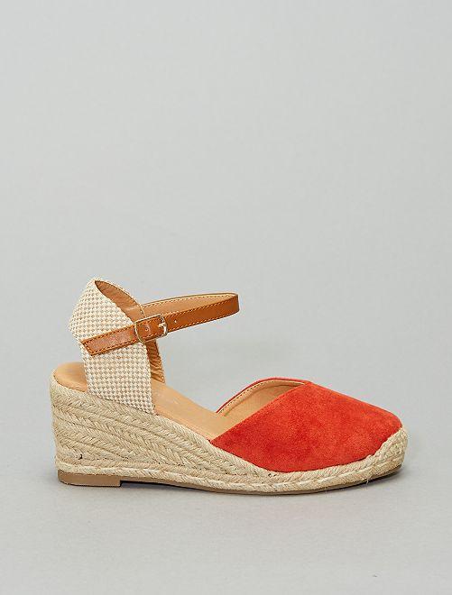 Sandali con zeppa                                                     arancione