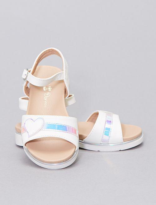 Sandali 'cuore'                             bianco