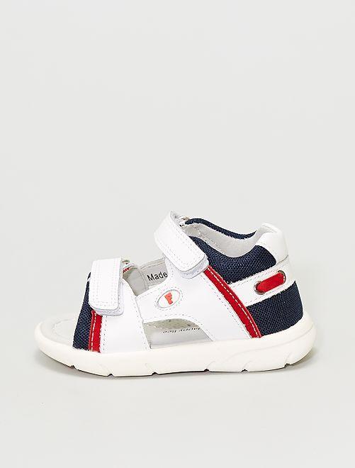 Sandali in pelle                             bianco