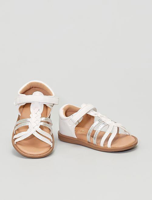 Sandali in similpelle                                         bianco