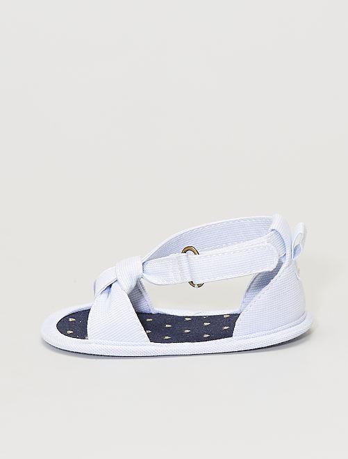 Sandali in tela                                         BLU
