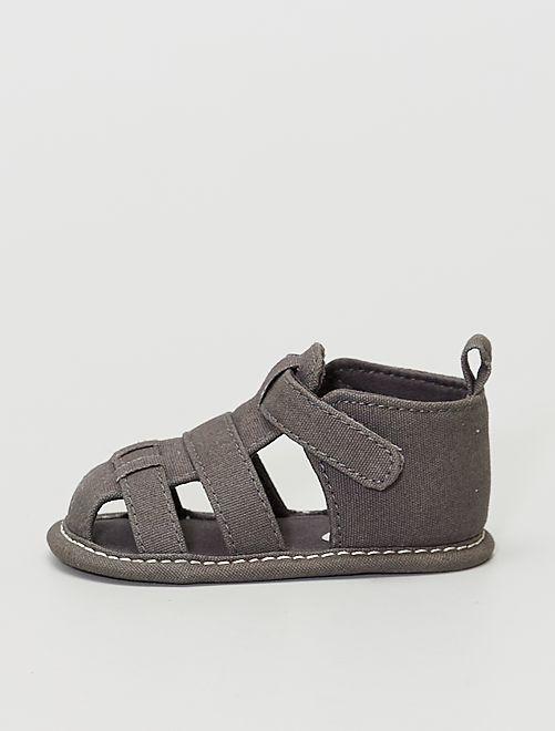 Sandali in tela                                         grigio scuro