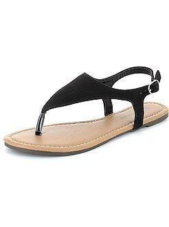 Scarpe donna - Sandali infradito pelle scamosciata
