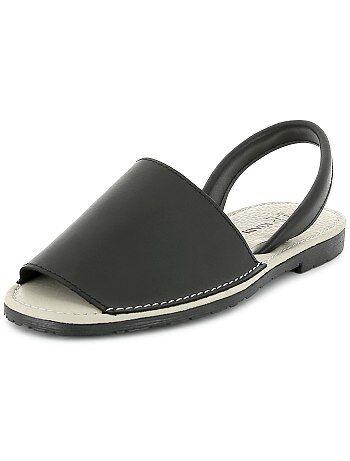 Sandali menorquinas pelle - Kiabi