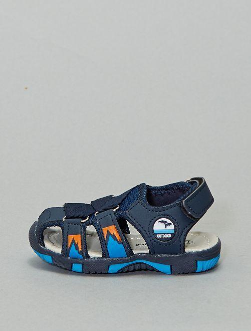 Sandali piatti chiusi                             blu navy