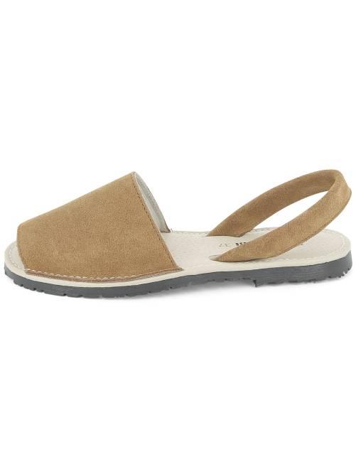 ... Sandali piatti pelle vista 2 ...