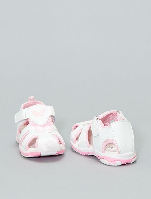Sandali sport a strappo                             bianco Infanzia bambina