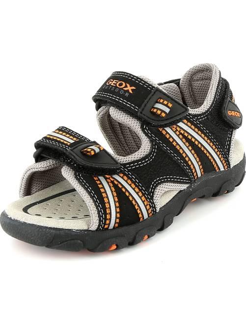 Sandali sport ecopelle                             NERO Infanzia bambino