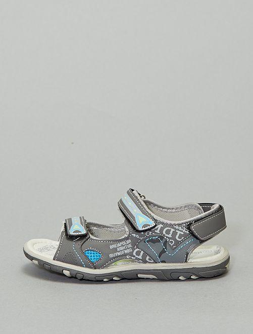 Sandali sport stampati                             grigio scuro