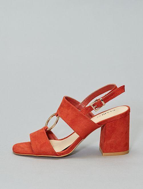 Sandali tacco con anello                                         ruggine Scarpe