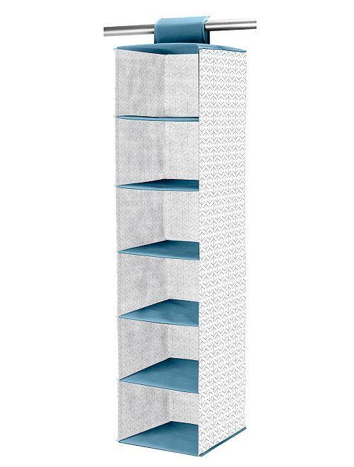 Scaffale pieghevole in tessuto non tessuto                                         bianco/blu