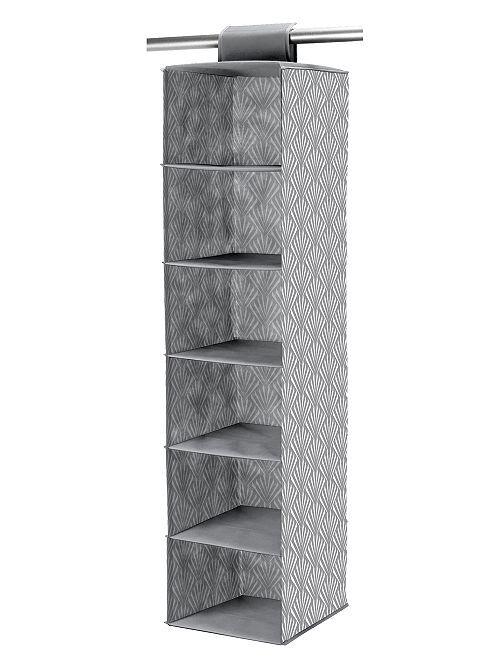 Scaffale pieghevole in tessuto non tessuto                                         grigio/bianco