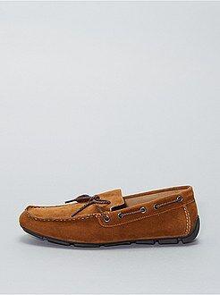 Scarpe da barca pelle scamosciata - Kiabi
