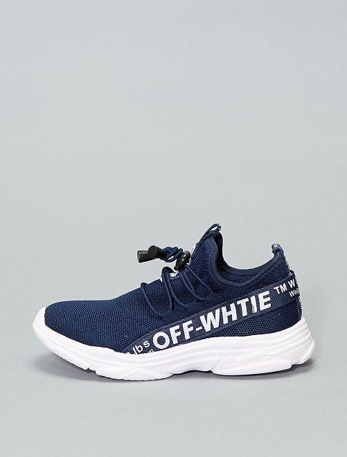 Scarpe da ginnastica alte a calza                             blu navy