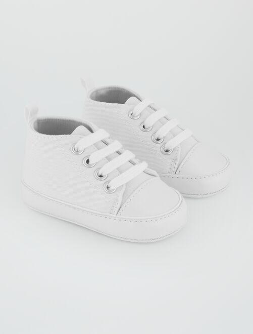 Scarpe da ginnastica alte tela                                                                                         bianco Neonato