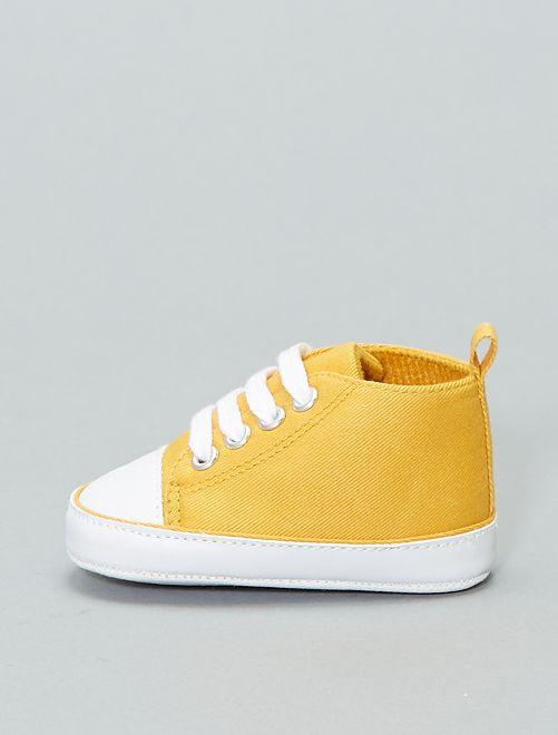 Scarpe da ginnastica alte tela                                                                                         giallo Neonato