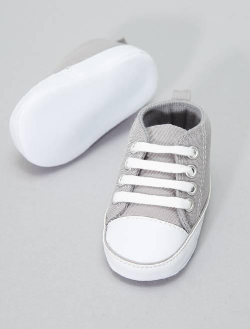 Scarpe da ginnastica alte tela neonato kiabi 4 00 - Scarpe da letto ...