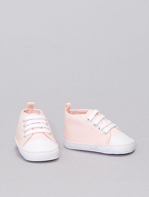 Scarpe da ginnastica alte tela                                                                                                                 rosa