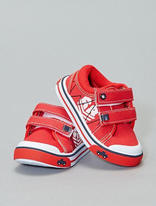 Scarpe da ginnastica basse a strappo                             rosso Neonato