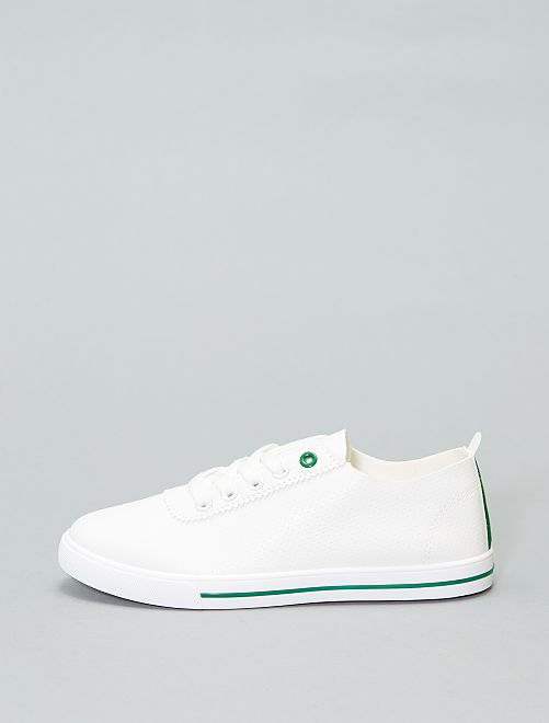 Scarpe da ginnastica basse morbide                                         bianco/verde Donna