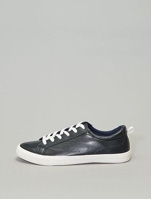 Scarpe da ginnastica basse tinta unita                             blu navy