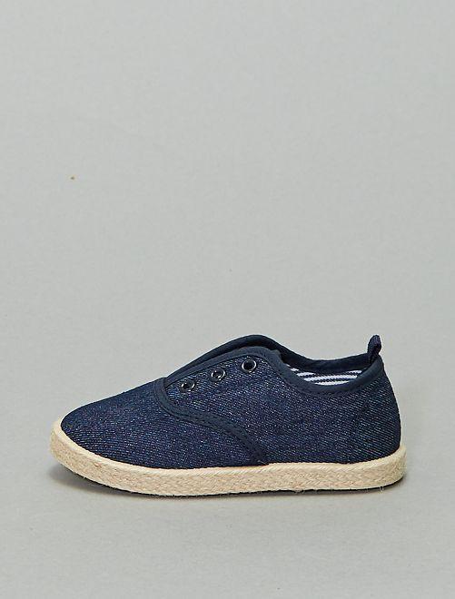 Scarpe da ginnastica stile espadrille                             blu navy