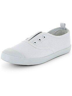 Scarpe, pantofole - Scarpe da ginnastica tinta unita senza lacci