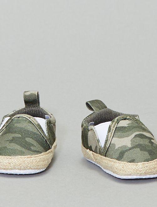 Scarpe stile 'slip-on'                                         militare