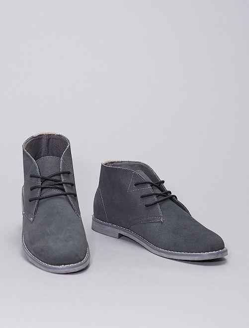 Scarpe urban tipo stivaletto                             grigio scuro