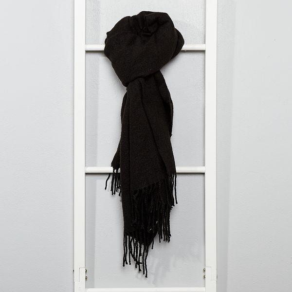 più recente 591a0 30db7 Sciarpa calda con frange Donna - nero - Kiabi - 10,00€