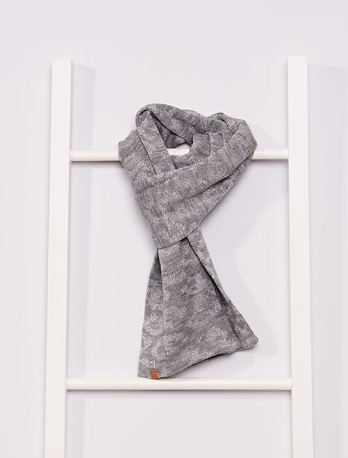 Sciarpa con stampa                                         grigio chiaro